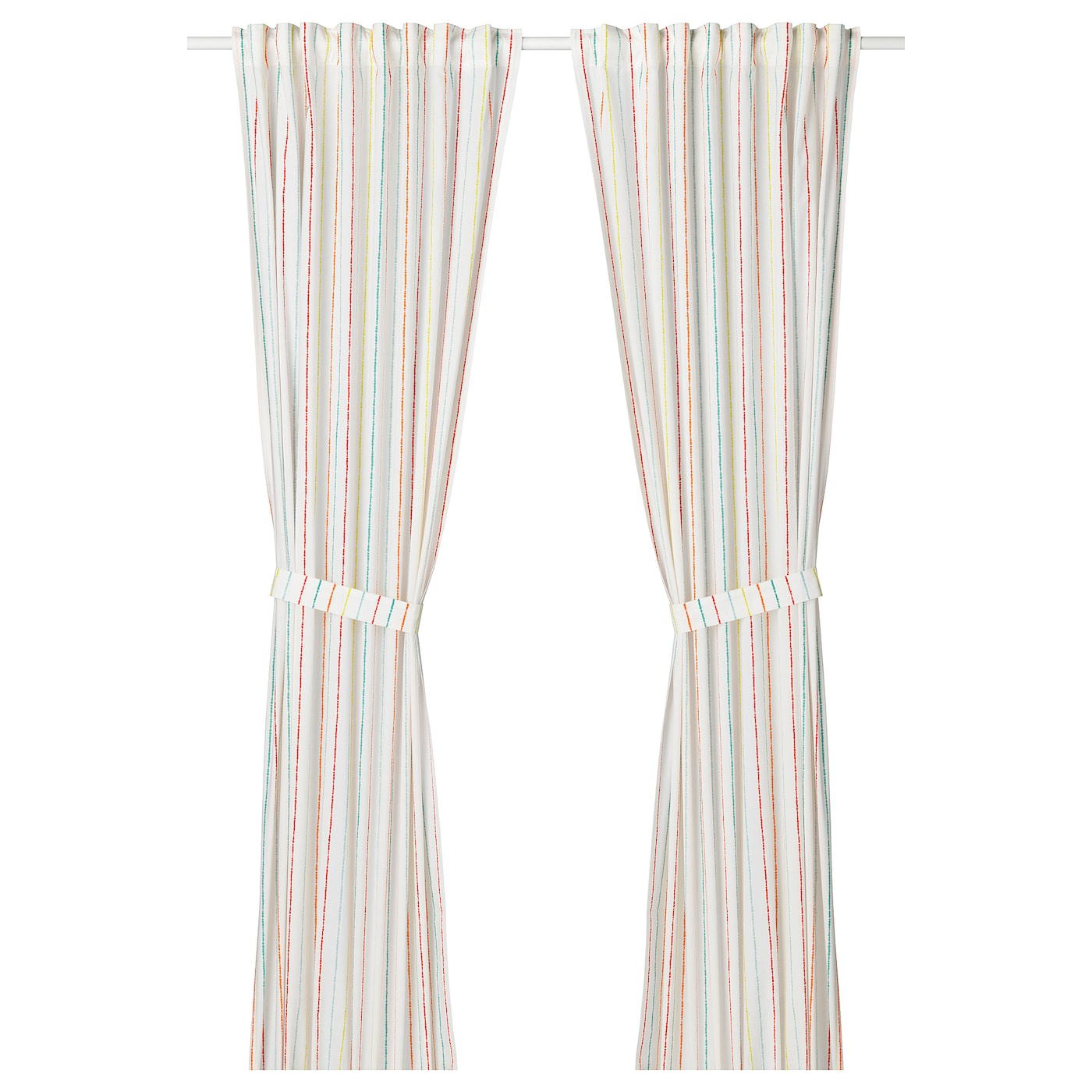 IKEA LATTJO curtains with tie-backs, 1 pair Easy to keep clean; machine wash hot (60°C).