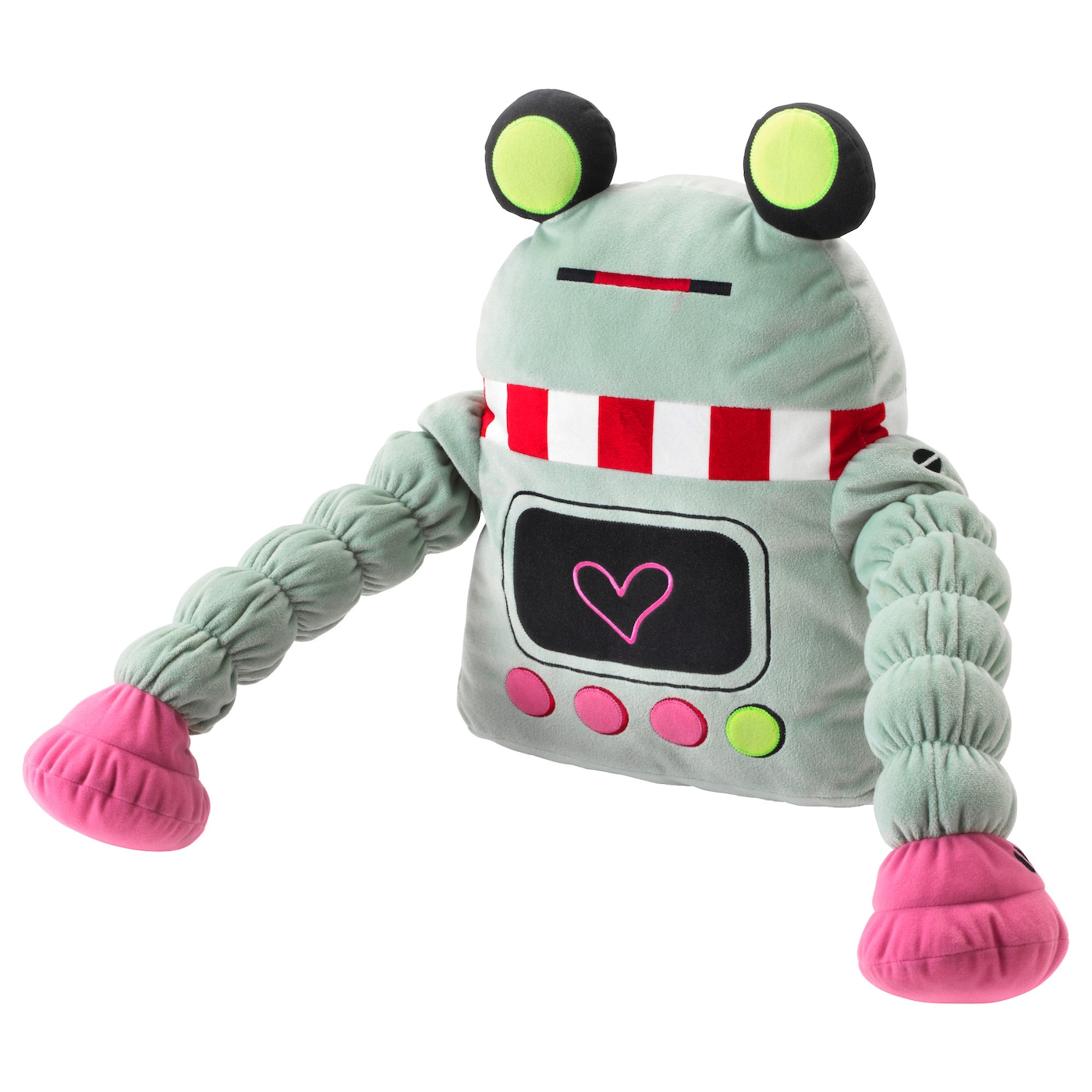 IKEA LATTJO soft toy The soft robot is also nice as a pillow for tired little heads.