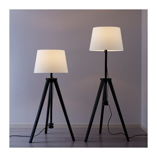 lauters floor lamp base brown ikea. Black Bedroom Furniture Sets. Home Design Ideas