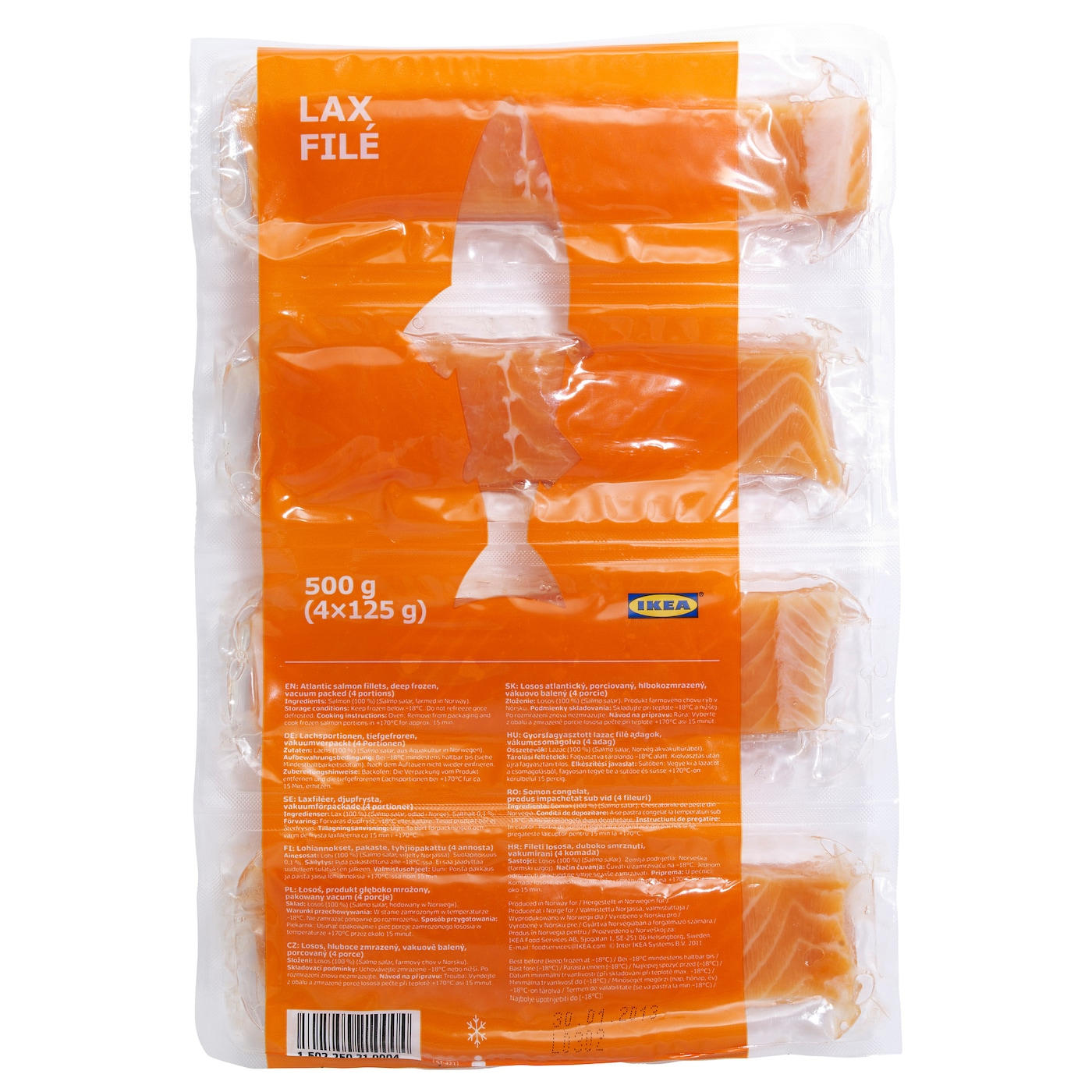 IKEA LAX FILÉ salmon fillet, frozen Salmon is a good source of protein and Omega-3 fatty acids.