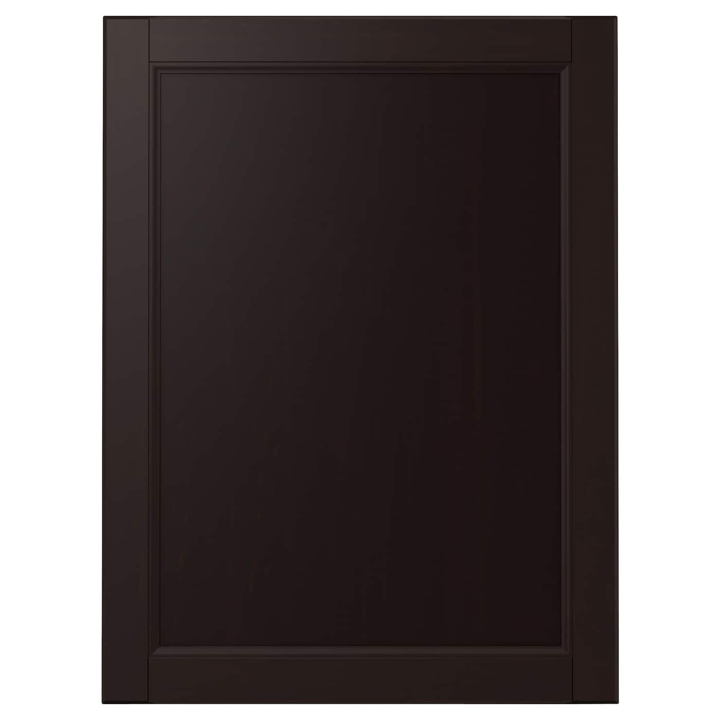 Laxarby door black brown 60x80 cm ikea for Black cabinet with doors