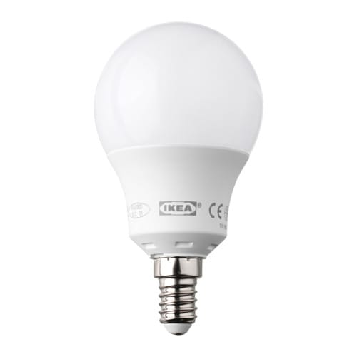 ikea ledare led bulb e14 helps lower your electric bill because dimming the lights saves energy. Black Bedroom Furniture Sets. Home Design Ideas