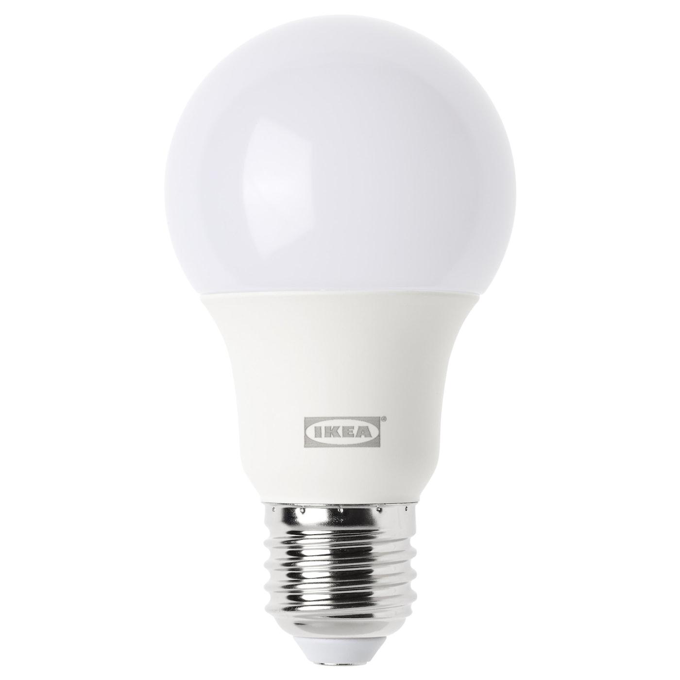 ledare led bulb e27 600 lumen dimmable globe opal white 5000k ikea. Black Bedroom Furniture Sets. Home Design Ideas