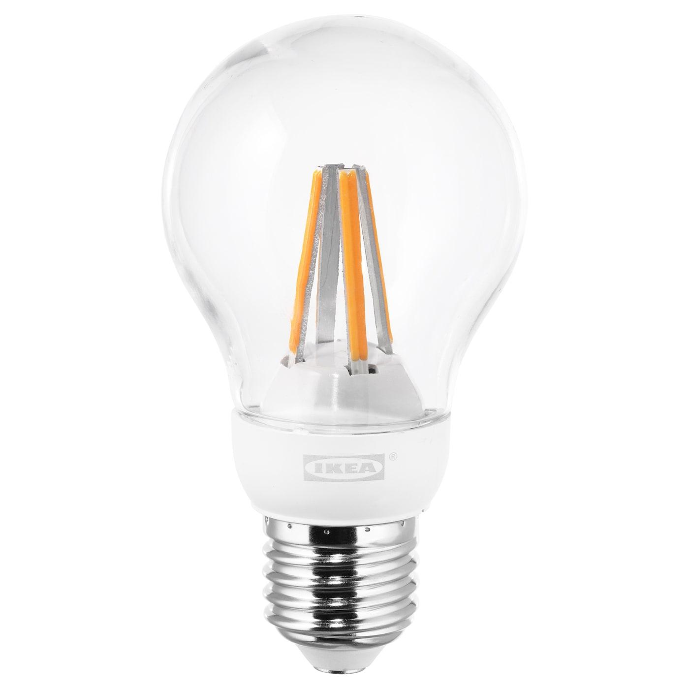 ledare led bulb e27 600 lumen warm dimming globe clear ikea. Black Bedroom Furniture Sets. Home Design Ideas