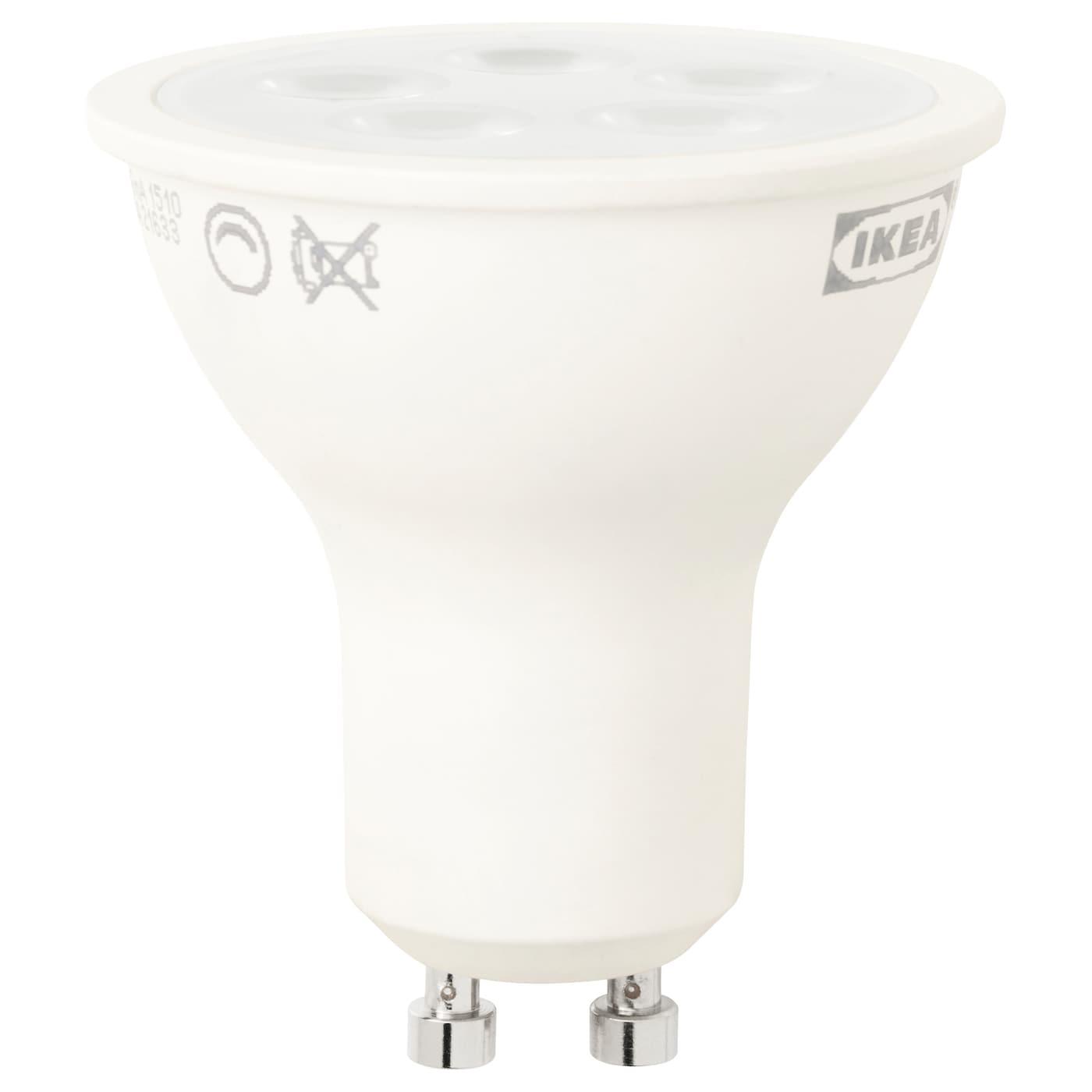 ledare led bulb gu10 400 lumen dimmable ikea. Black Bedroom Furniture Sets. Home Design Ideas