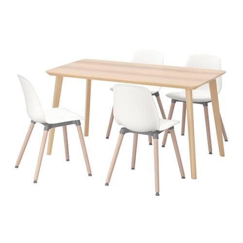 ikea leifarne lisabo table and 4 chairs easy to assemble as each leg