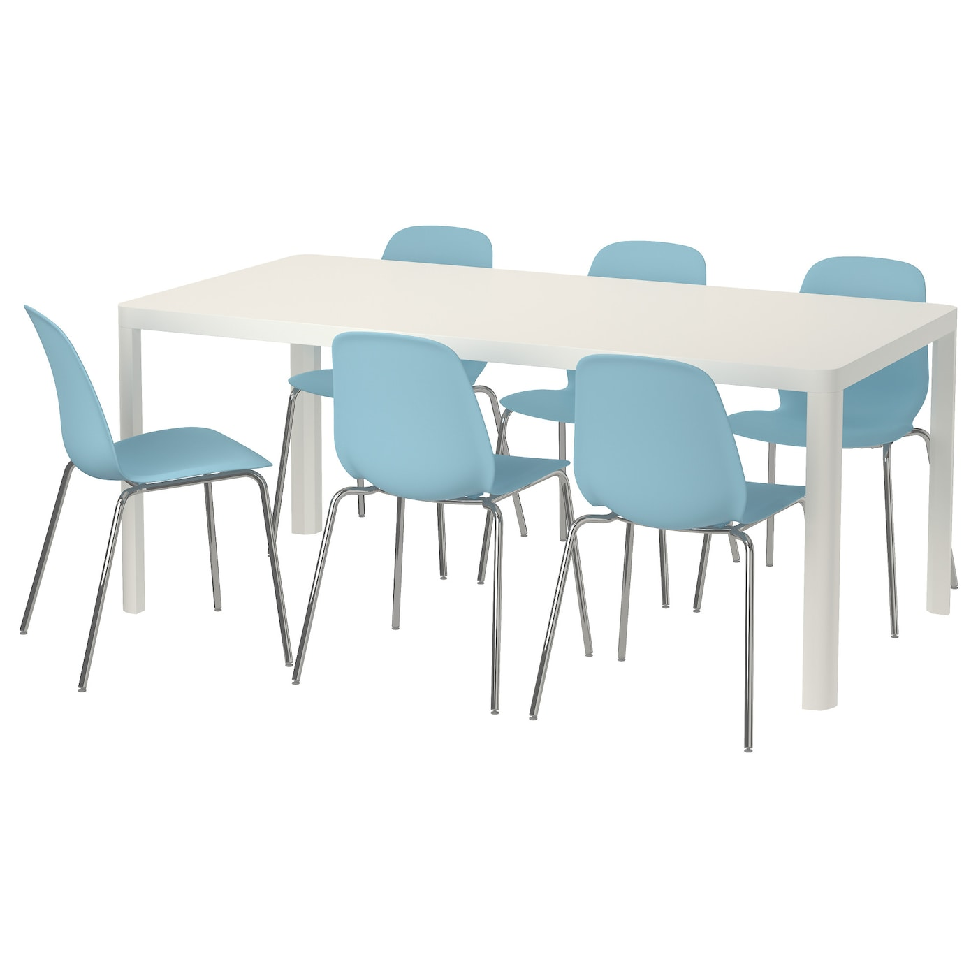 IKEA LEIFARNE/TINGBY table and 6 chairs