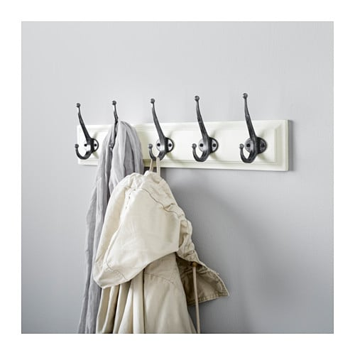 leksvik rack with 5 hooks white ikea. Black Bedroom Furniture Sets. Home Design Ideas