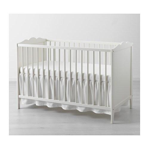 len cot skirt white 60x120 cm ikea. Black Bedroom Furniture Sets. Home Design Ideas