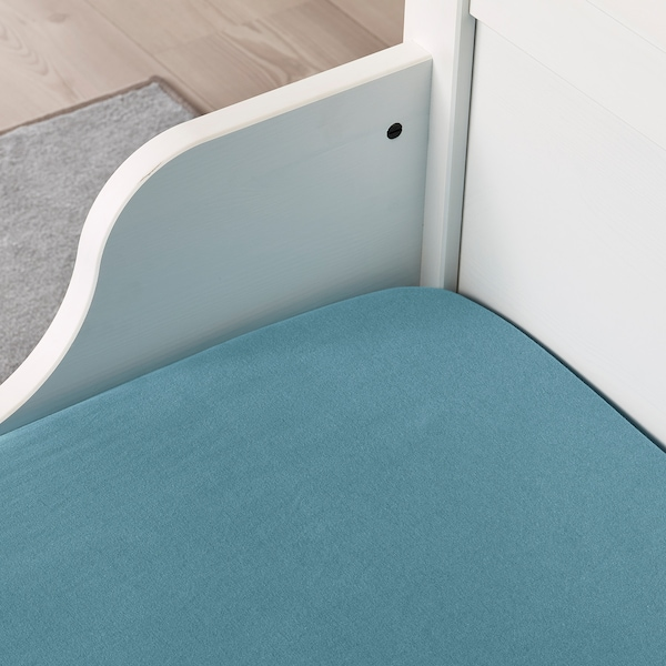 LEN fitted sheet for ext bed, set of 2 turquoise