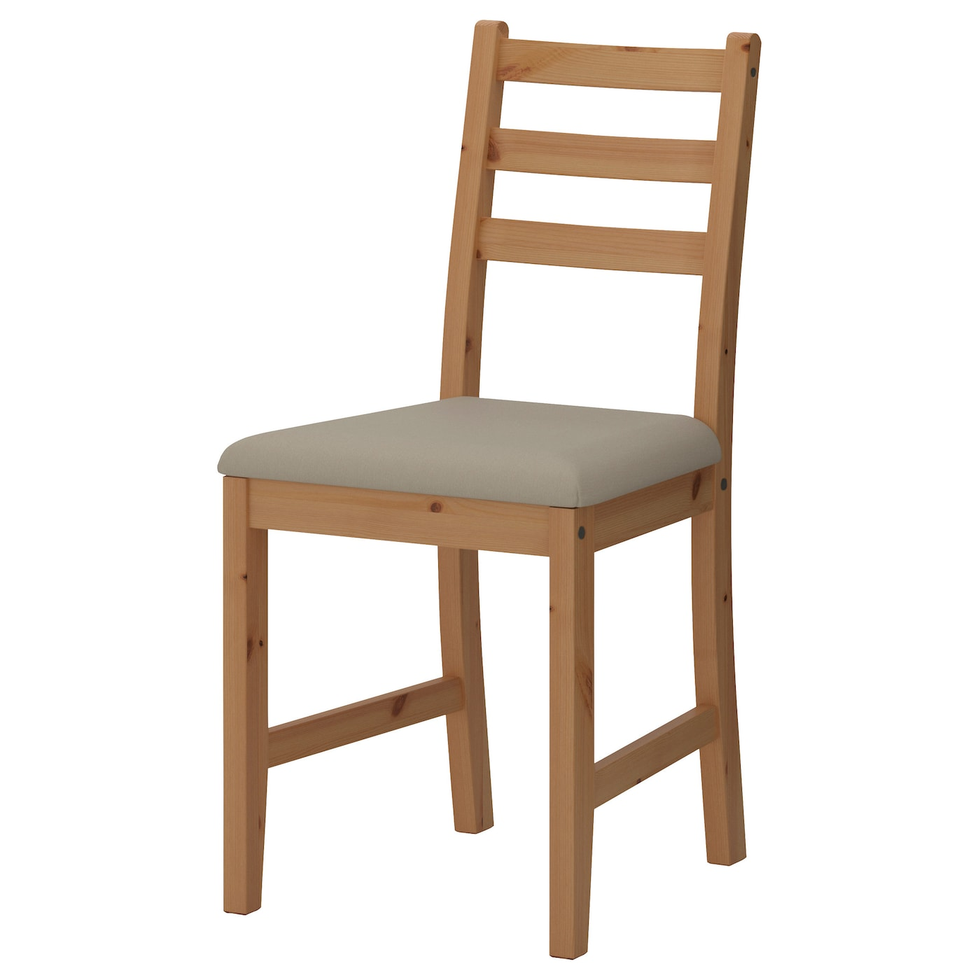 IKEA LERHAMN chair The chair frame is made of solid wood, which is a durable natural material.