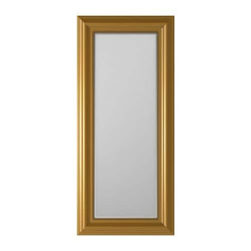 LEVANGER Mirror IKEA Full-length mirror.  Can be hung horizontally or vertically.  Provided with safety film - reduces damage if glass is broken.