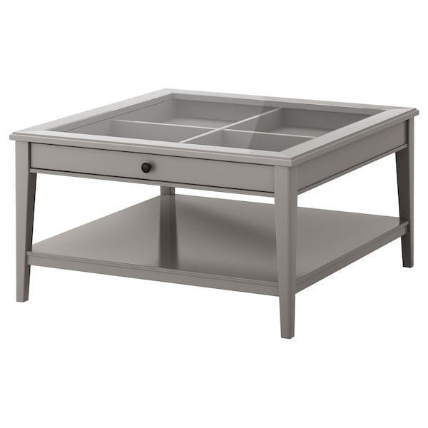 Liatorp Coffee Table Grey Glass Ikea