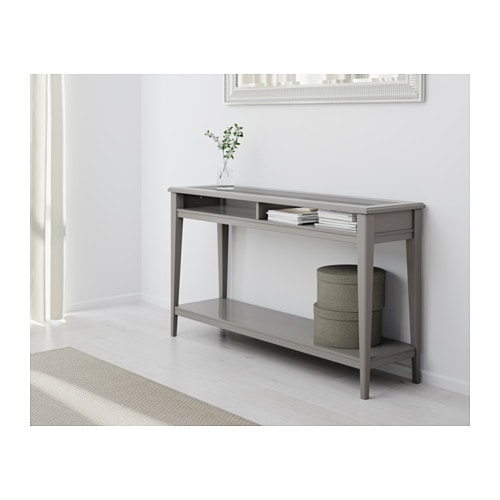 Liatorp console table grey glass 133x37 cm ikea - Console convertible table ikea ...