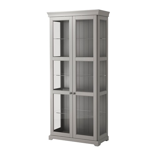 IKEA LIATORP Glass Door Cabinet 2 Fixed Shelves For High Stability. Amazing Pictures