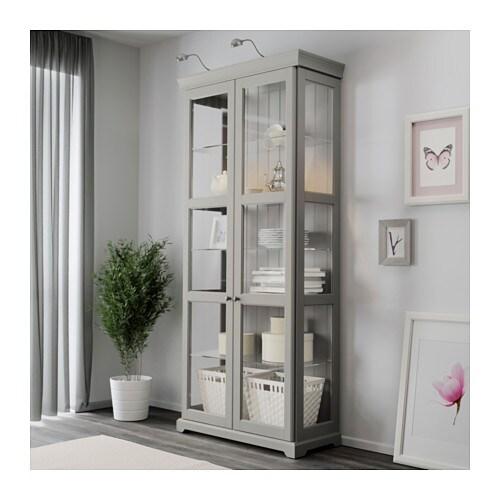 Borgsjo glass door cabinet ikea for Ikea hemnes glass door cabinet