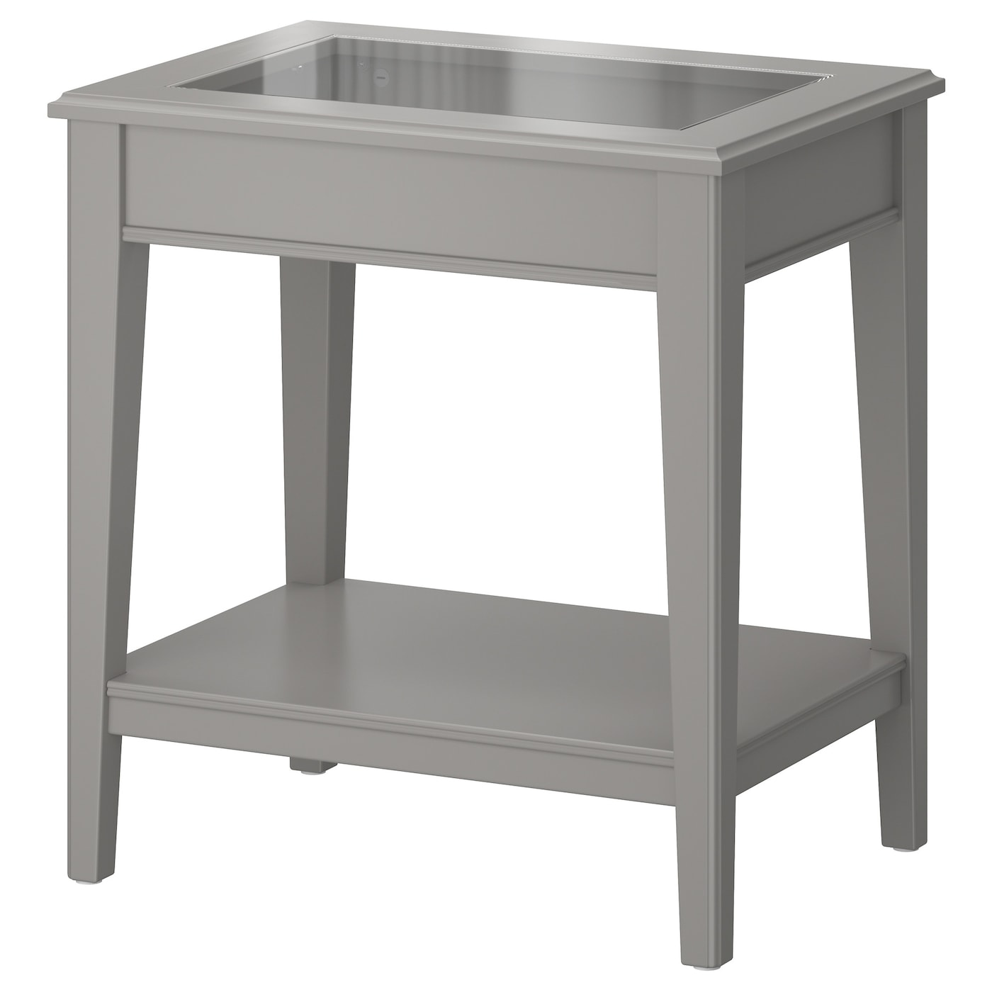 LIATORP Side table Grey glass 57x40 cm IKEA