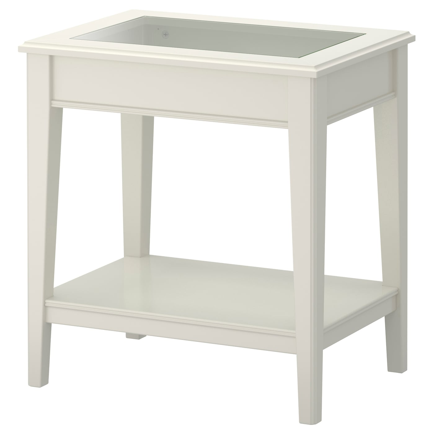 LIATORP Side table White glass 57x40 cm IKEA