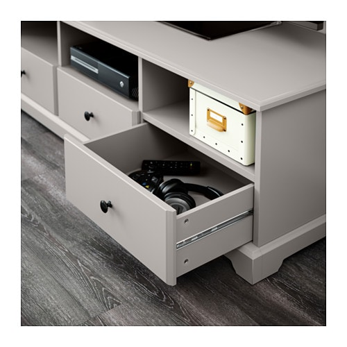 Meuble Tv Ikea Liatorp : Ikea Liatorp Tv Bench Smooth-running Drawers With Drawer Stops To Keep