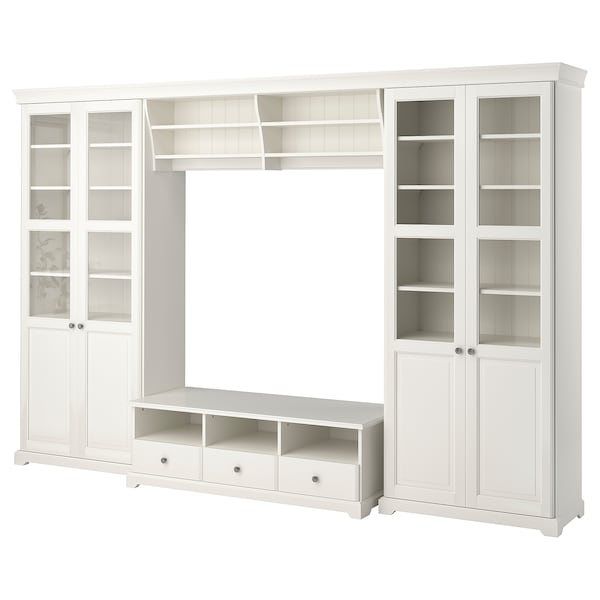 LIATORP TV storage combination, white, 332x214 cm