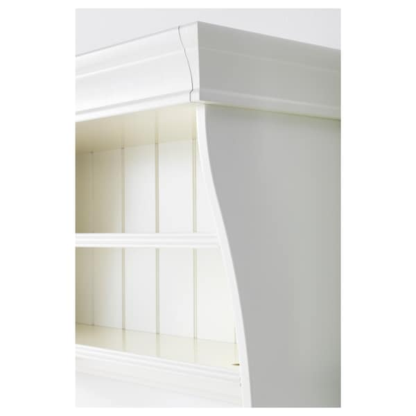 LIATORP Wall/bridging shelf, white, 152x47 cm