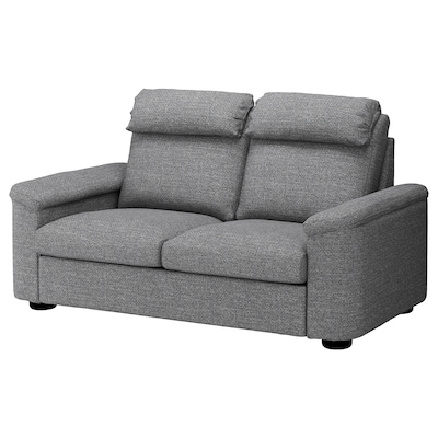 LIDHULT 2-seat sofa-bed, Lejde grey/black