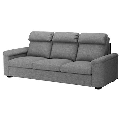 LIDHULT 3-seat sofa, Lejde grey/black