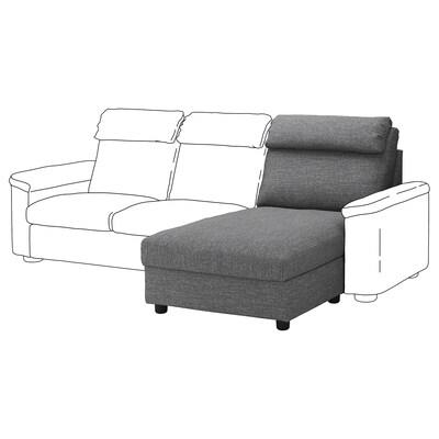 LIDHULT chaise longue section Lejde grey/black