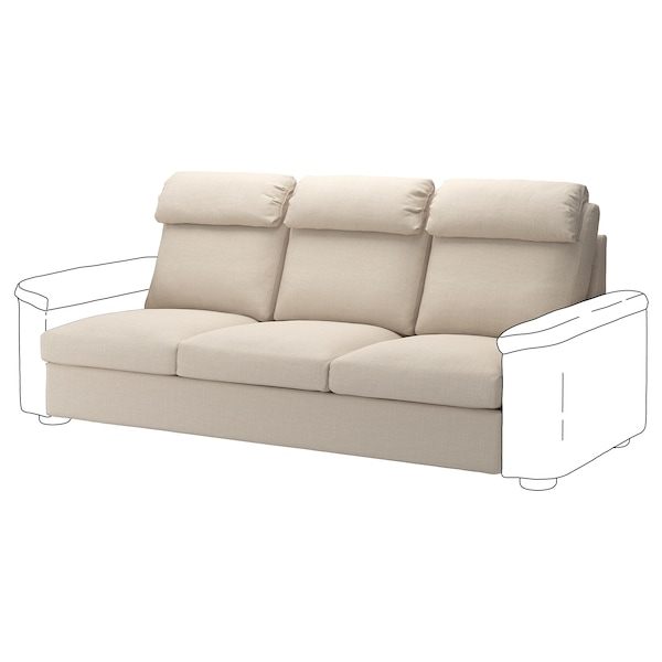 LIDHULT Cover for 3-seat section, Gassebol light beige