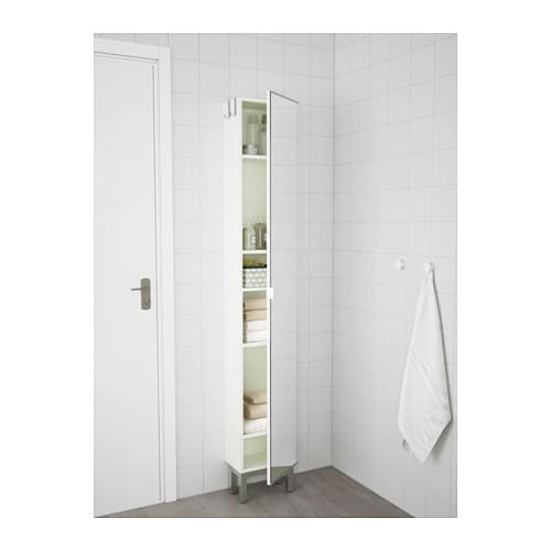 lill ngen high cabinet with mirror door white 30x21x179 cm ikea. Black Bedroom Furniture Sets. Home Design Ideas