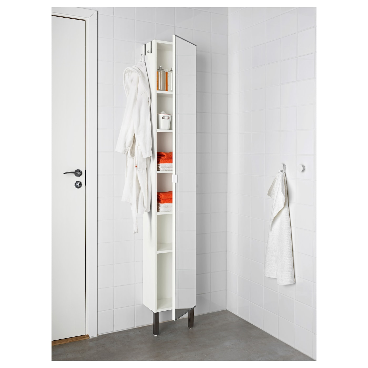 IKEA LILLÅNGEN high cabinet with mirror door