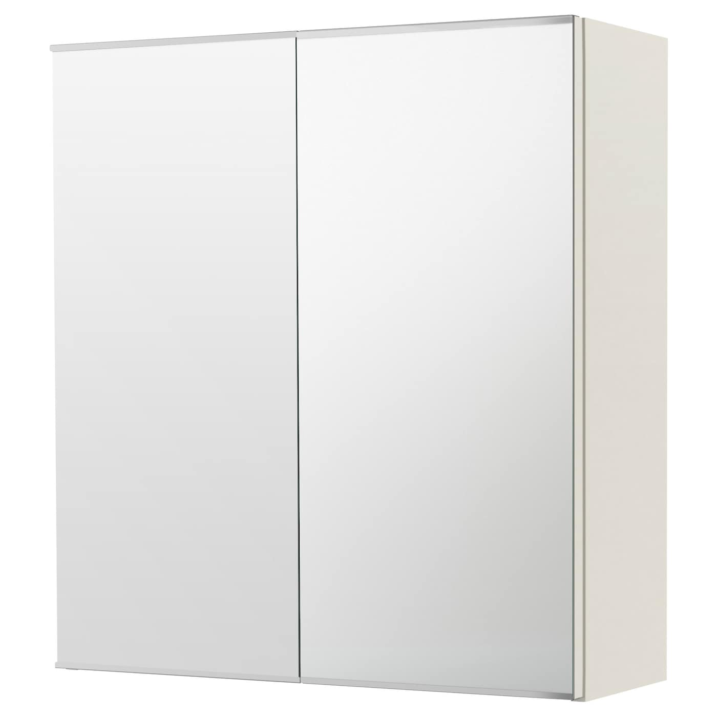 Lill ngen mirror cabinet with 2 doors white 60x21x64 cm ikea for White bath cabinet