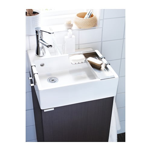 lill ngen wash basin cabinet with 1 door black brown 40x38x64 cm ikea. Black Bedroom Furniture Sets. Home Design Ideas