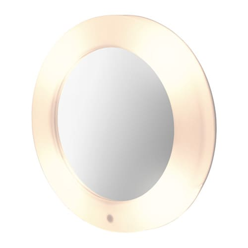 IKEA LILLJORM mirror with integrated lighting A mirror and lamp in one – smart and space-saving.