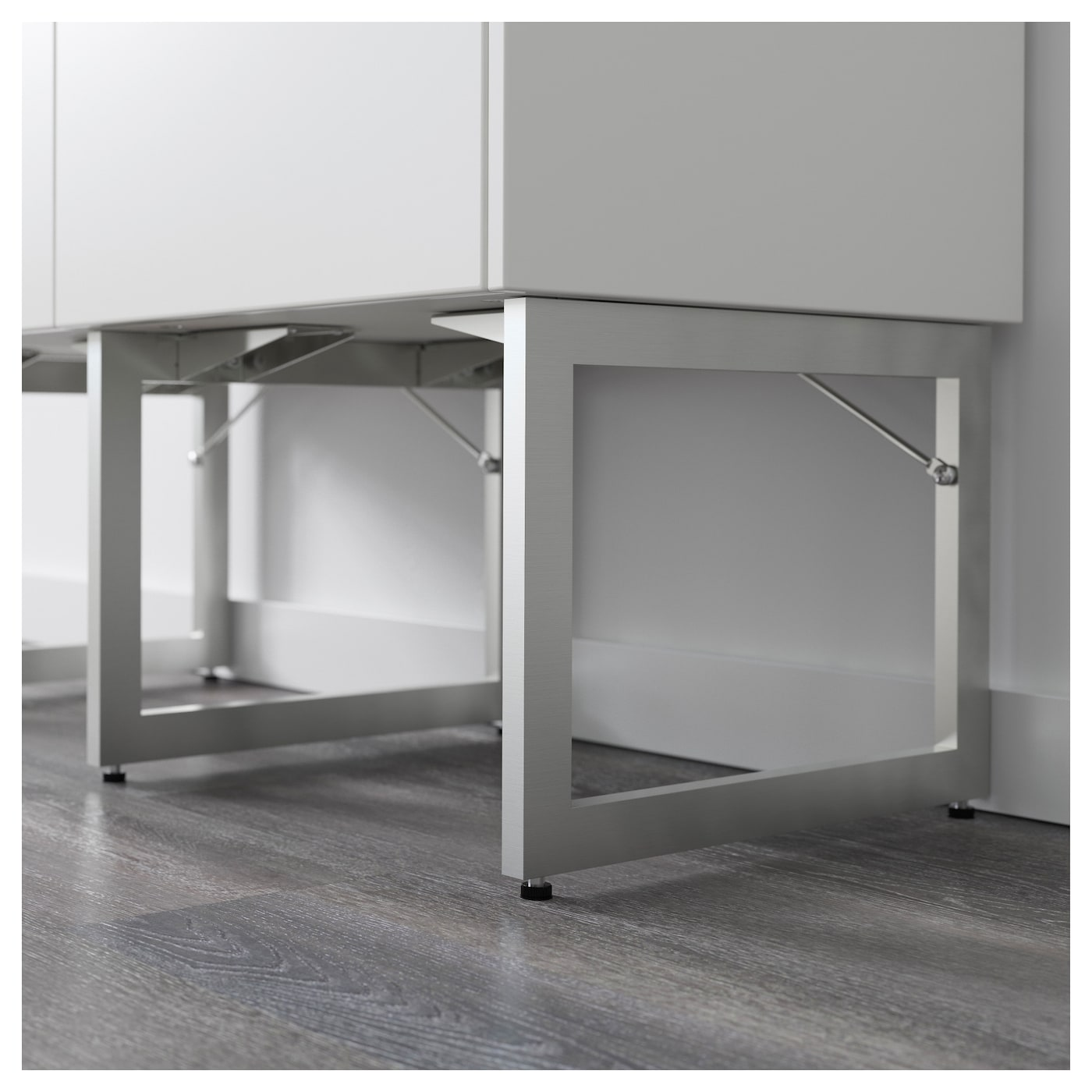 IKEA LIMHAMN leg Stands steady on uneven floors because they are adjustable between 28-29 cm.
