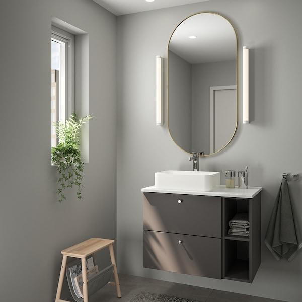 LINDBYN Mirror, gold-colour, 60x120 cm