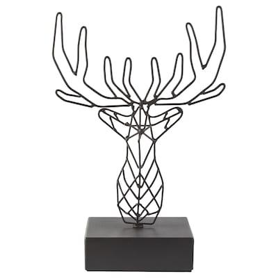 LINDRANDE Decoration, reindeer black, 25 cm