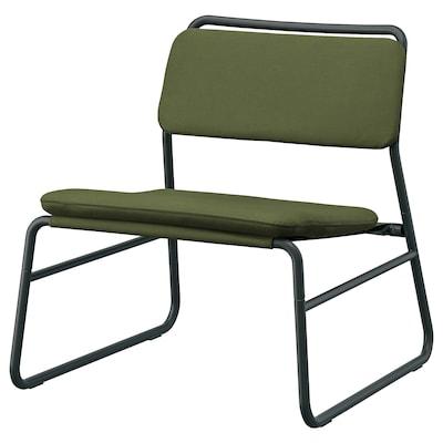LINNEBÄCK Easy chair, Ramna olive-green