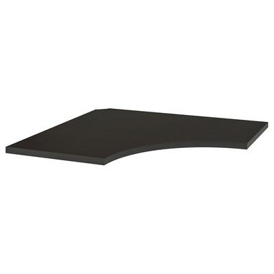 LINNMON Corner table top, black-brown, 120x120 cm