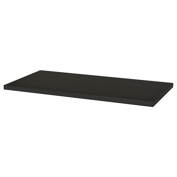 LINNMON Table top, black-brown, 120x60 cm