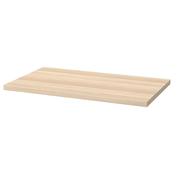 LINNMON Table top, white stained oak effect, 100x60 cm