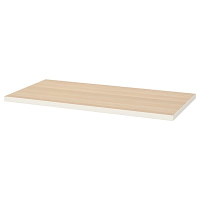 LINNMON Table top, white/white stained oak effect, 120x60 cm