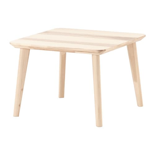 Lisabo Coffee Table Ash Veneer 70 X 70 Cm Ikea