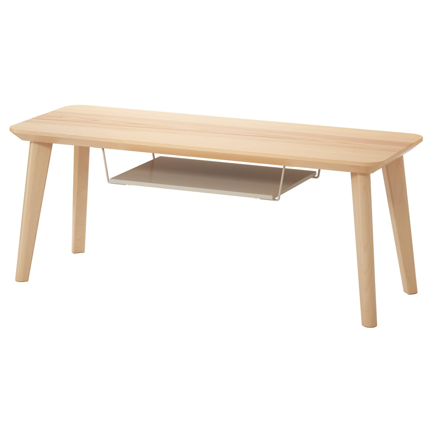Lisabo tv bench ash veneer 114x40 cm ikea for Table tv bois