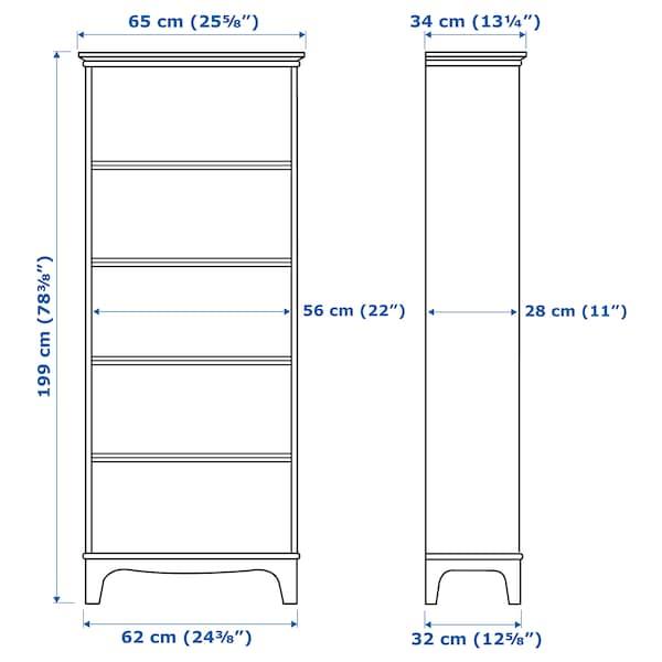 LOMMARP Bookcase, dark blue-green, 65x199 cm