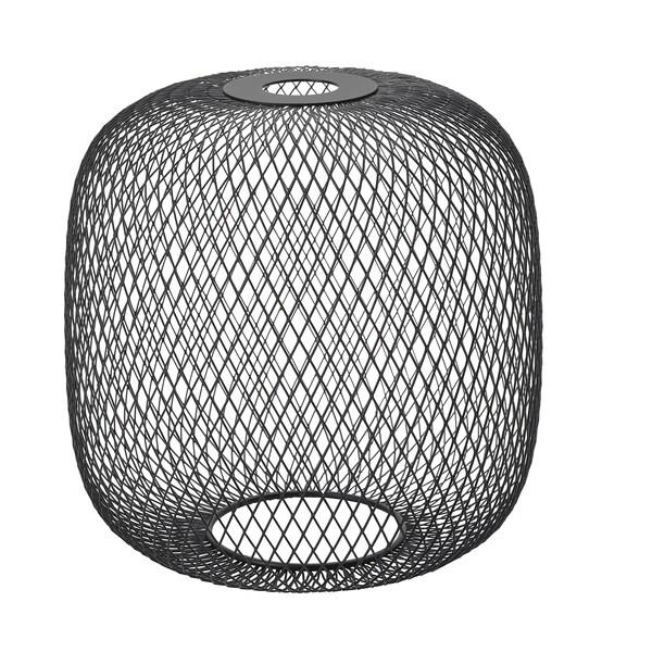 LUFTMASSA Lamp shade, black rounded, 26 cm