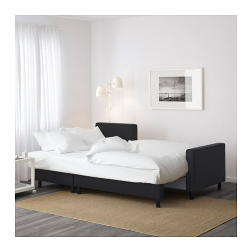 LUGNVIK Sofa bed with chaise longue Gran229n black IKEA : lugnvik sofa bed with chaise longue gran25c325a5n black0451189pe600200s4 from www.ikea.com size 500 x 500 jpeg 32kB