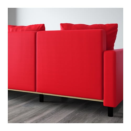 Lugnvik Sofa Bed With Chaise Longue Tall Sen Red Ikea