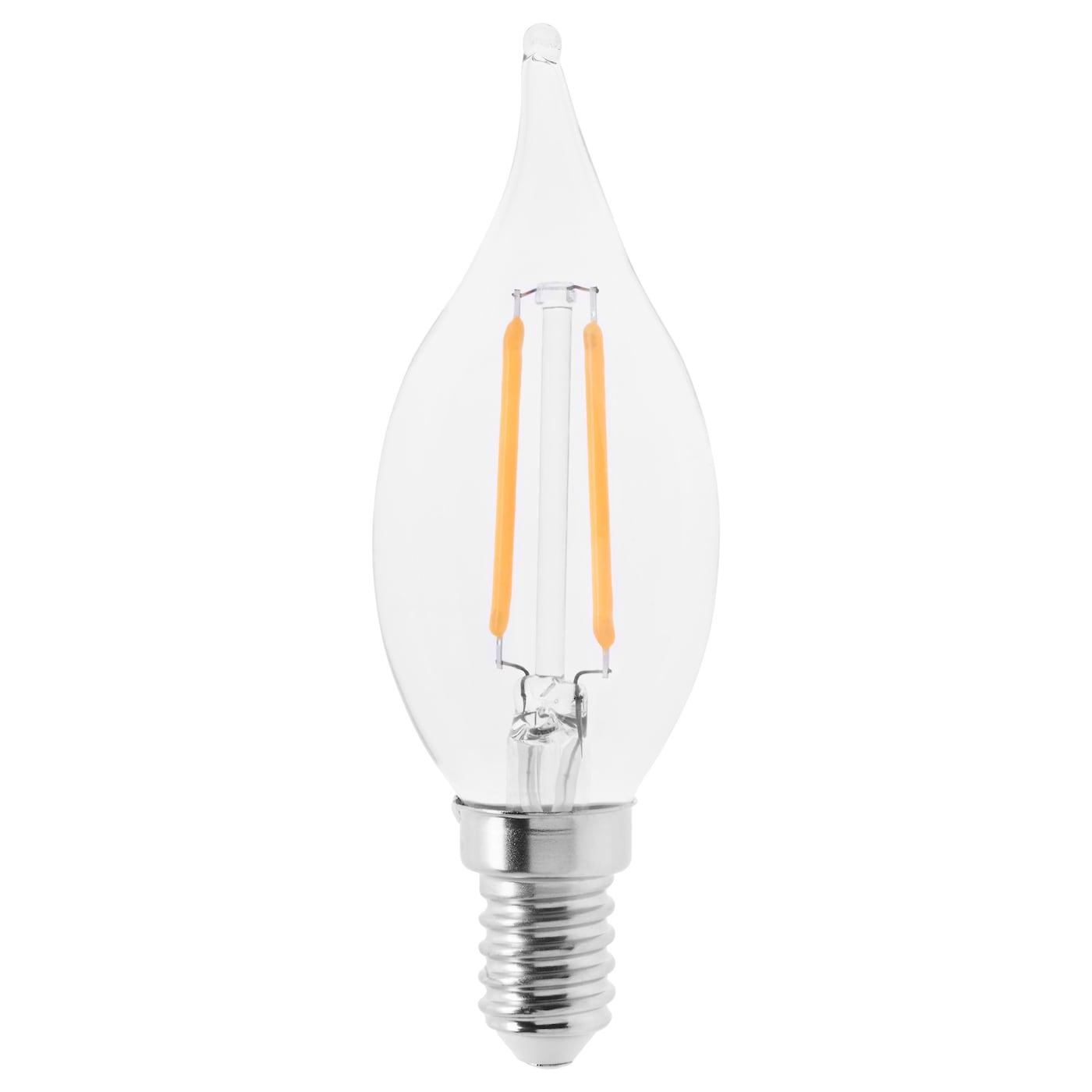 lunnom led bulb e14 200 lumen chandelier clear glass 35 mm ikea. Black Bedroom Furniture Sets. Home Design Ideas