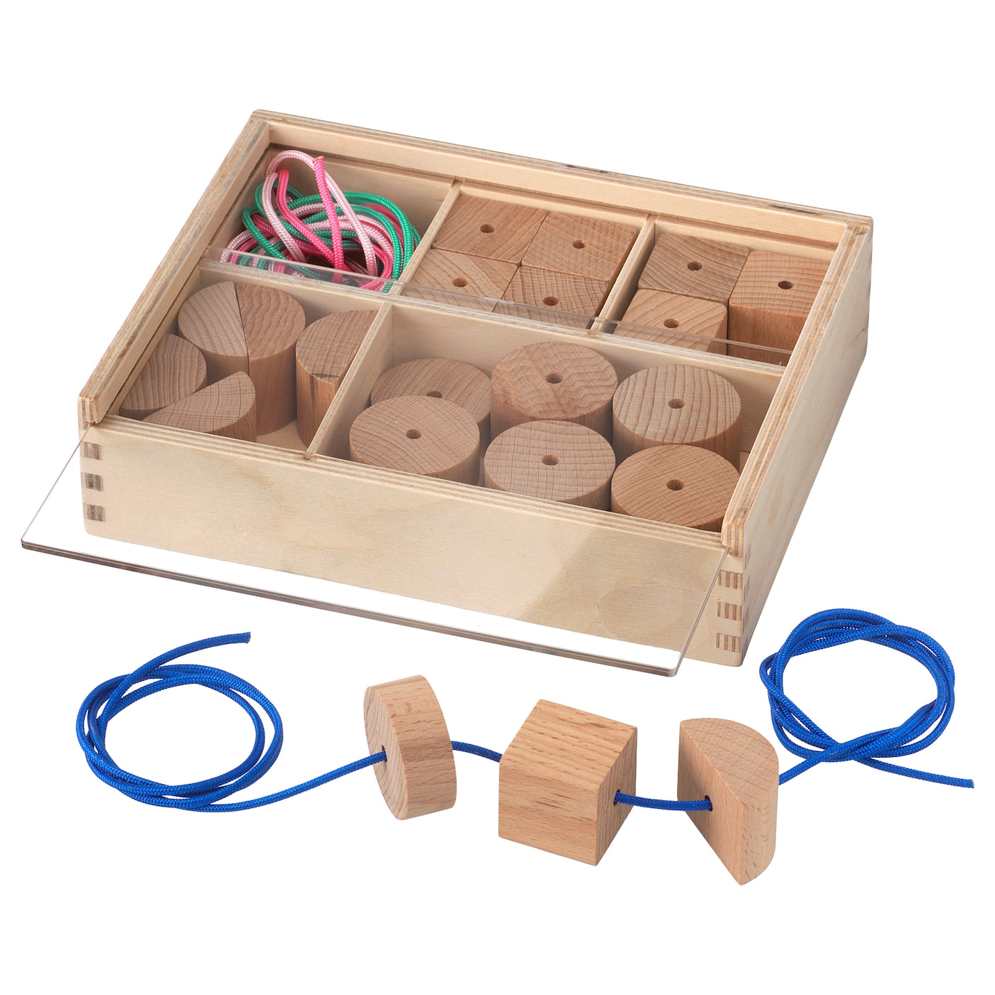 IKEA LUSTIGT lacing beads Develops fine motor skills and logical thinking.